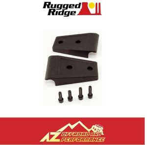Rugged Ridge Hood Hinge Cover Kit 07 18 Jeep Wrangler Jk 11205 10 Black