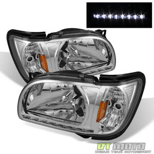 For 2001 2004 Toyota Tacoma Pickup Led Drl Headlights 2in1 Design W Corner Lamps