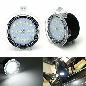 White Led Under Side Mirror Puddle Lights For 2007 2019 Toyota Tundra Sequoia