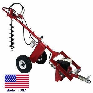 Post Hole Digger Earth Auger Hydraulic 7 Gpm 225 Ftlbs Torque 9 Hp Honda