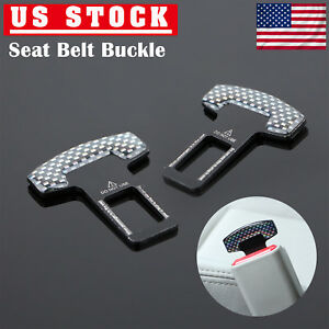 2 X Car Seat Belt Clip Clamp Cover Safety Seatbelt Buckle Alarm Stopper Black Us
