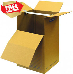 Bankers Box Smoothmove Wardrobe Moving Boxes Short 20 X 20 X 34 Inches 1