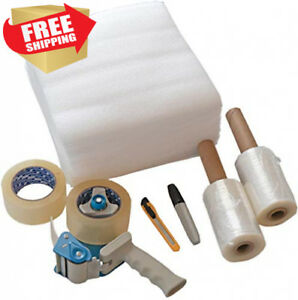 Packing Tape And Moving Kit With Shipping Gun Dispenser 2 Rolls 2 In X 165