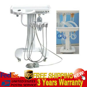 New Dental Portable Mobile Delivery Cart Unit 4hole Led High Low Handpiece Usa