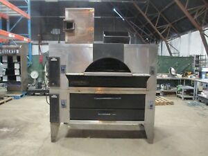 Baker s Pride Il Forno Fc 616 y 600 Double Deck Gas Pizza Oven W Timer Ignition
