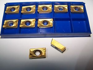 New Apkt 1604 Pder Tin Coated 10 Pcs Carbide Inserts Free Shipping