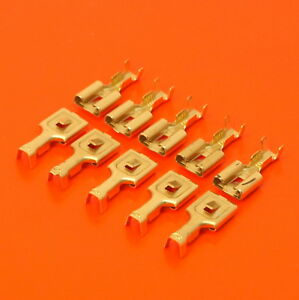 High Quality 8mm Female Receptacle Spade Terminals Non Insulated Brass Crimp