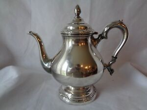 Vintage Silverplate Remembrance Tea Pot 9802 International Silver