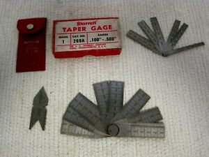 Lot Of 3 Starrett 269a 269b Taper Gages W no 391 60 Degree Center Gage