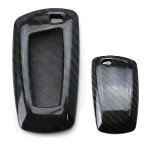 Real Carbon Fiber Key Fob Cover Case Shell For Bmw 1 2 3 4 5 6 7 Series X1 X3 X4