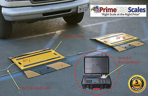 Prime Weigh Pads With Printer Option Truck Car Portable Axle Scale