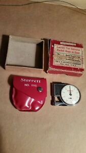 Starrett 1010 Dial Indicator Pocket Gage Machinist Tool Vintage Class No 2 T v
