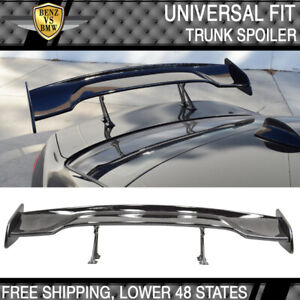 57 Inch Gt Wing Span Spoiler Adjustable Abs Gt Jdm Black Rear Trunk Spoiler Wing
