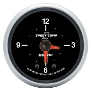Auto Meter 3685 Sport Comp Ii Digital Stepper Motor Clock Gauge