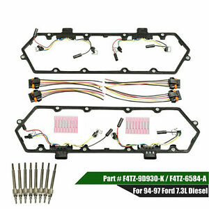 For 7 3l 94 97 Ford Powerstroke Diesel Valve Cover Gaskets Harnesses glow Plug