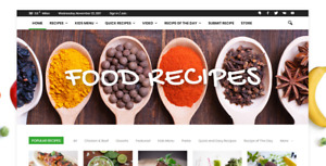 Established Profitable Cooking Recipes Food Business Turnkey Website For Sale