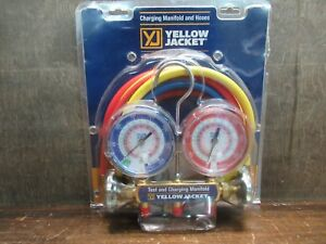 Brand New Yellow Jacket 42004 Charging Manifold And Hoses R 22 404a 410a