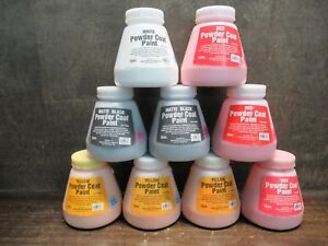 New Harbor Freight Tools 16 ounce Powder Coat Paint white black red yellow