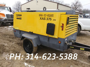 2012 Atlas Copco Xas 375 Air Compressor Portable Twin Screw Diesel