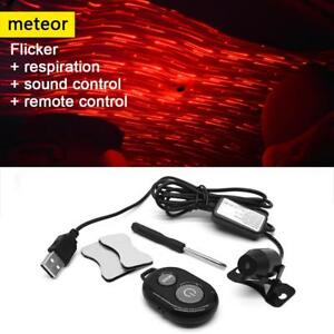 Usb Red Led Projector Light Sound Remote Car Interior Atmosphere Lamp Home Party
