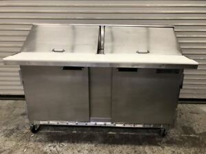 60 2 Door Mega Top Refrigerated Sandwich Prep Table Beverage Air Sur60 24 9287