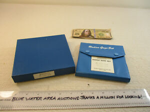 Brand New In Box Fowler Radius Gage Set 52 470 040 9 16 To 1 By 1 16 Nos