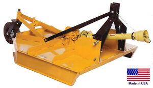 Field Brush Mower Rotary Cutter 3 Pt Hitch Mount Pto Drive 60 Cut Hd