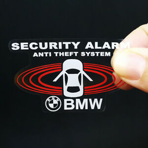 2 Bmw Car Alarm Decals Inside Outside Glass Security System Window Stickers