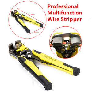 Professional Auto Wire Stripper Cutter Crimper Plier Electric Tool Multifunction