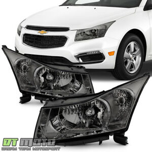 2011 2012 2013 2014 2015 Chevy Cruze Smoke Headlights Headlamps Left Right Pair