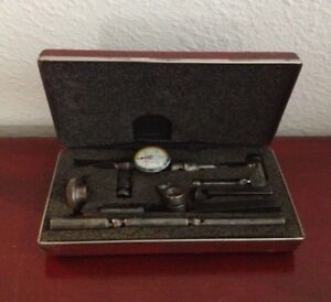 Vintage Starrett Last Word No 711 0005 Dial Test Indicator Accessories W case