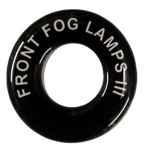 Front Fog Lamps 3 Lucas Toggle Switch Round Dash Tag Classic Car Kit Hot Rod