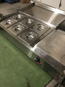 Never Used Air Acp40 6 pan 40 Counter top Refrigerated Prep Station