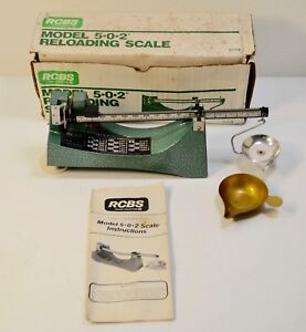 RCBS 502 Balance Beam Reloading Scale box manual excellent condition