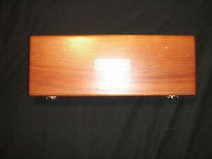 Micrometer Starrett Athol usa Wooden Box Case For 448 Depth Gage Indicator Used