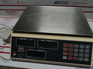 Berkel Professional Deli Retail Counter Retail Pos Scale Dx342 W Manual Works