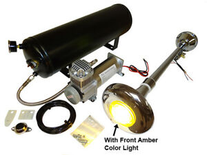Loud Semi Truck Air Horn Kit With 3 Gal Tank 200psi Compressor And Amber Light