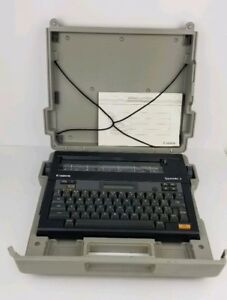 Canon Typestar 5 Electronic Typewriter Black W Case Works No Power Supply