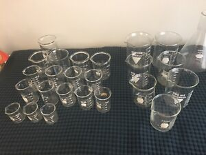 Huge 25 Piece Lot Of Used Lab Beakers Pyrex Kimax