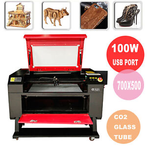 Usb Port 100w Co2 Laser Cutter Cutting Engraving Machine W water Pump Laser Tube