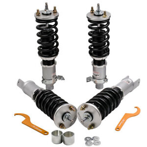 Coilovers Kits For Honda Civic 92 95 Integra 94 01 Dc Db Adjustable Height Grey