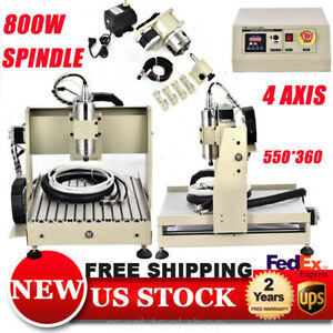 800w Vfd 3040 4axis Cnc Router Woodworking Engraver Engraving Machine 3d Carving