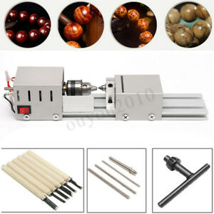 Mini Lathe Beads Polisher Machine 100w Woodworking Diy Craft Rotary Machine