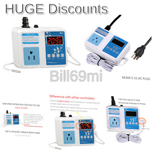 Willhi Wh1436a Temperature Controller 110v Digital Thermostat Switch Sous Vid