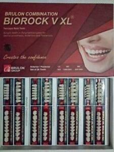 Teeth Set For Acrylic Flexible Dentures By Biorock V 4 Sets In A Box