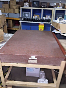 Rahn Precision Pink Granite Inspection Plate 36 x48 x6 With Stand