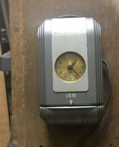 Vintage Ibm Time Clock Working Neat Industrial Clock