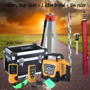 Ridgeyard Green Beam Self leveling Vertical Rotary Laser Level Staff Tripod 360