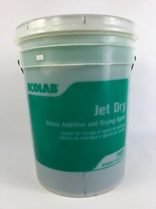 New Ecolab Jet Dry 5 Gallon Bucket Dishwasher Commercial