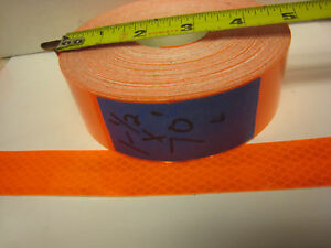Neon Orange Reflective Conspicuity Tape 1 1 2 X 70 Feet Lined